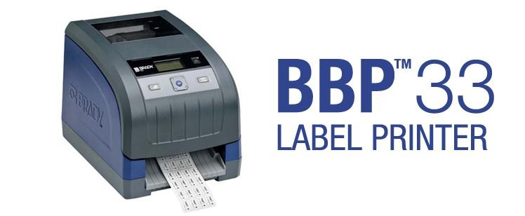 Impresora Brady BBP33: increíblemente fácil, extraordinariamente rápida