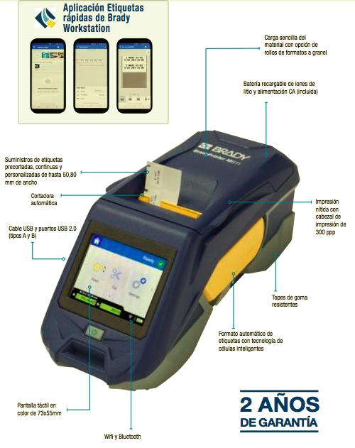 ImpresoraM611 detalles2 - Brady M611: identificación más rápida e inteligente
